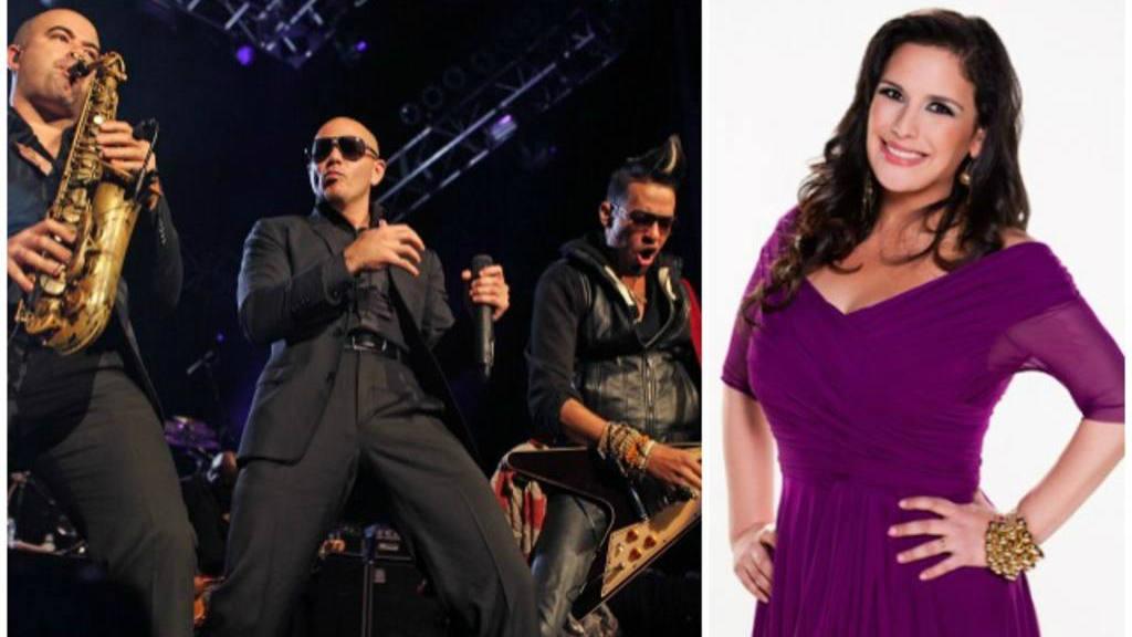 Pitbull y Angélica Vale en Festival de People en Español