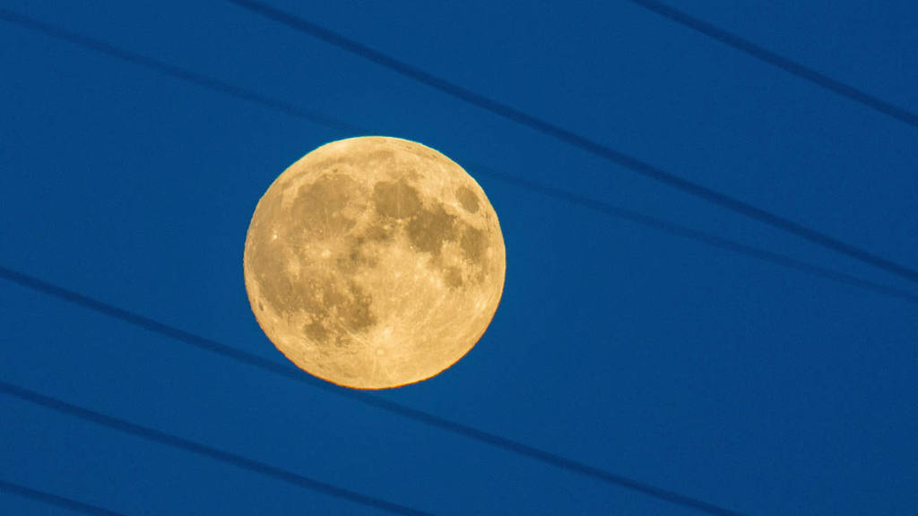 Super moon in Germany