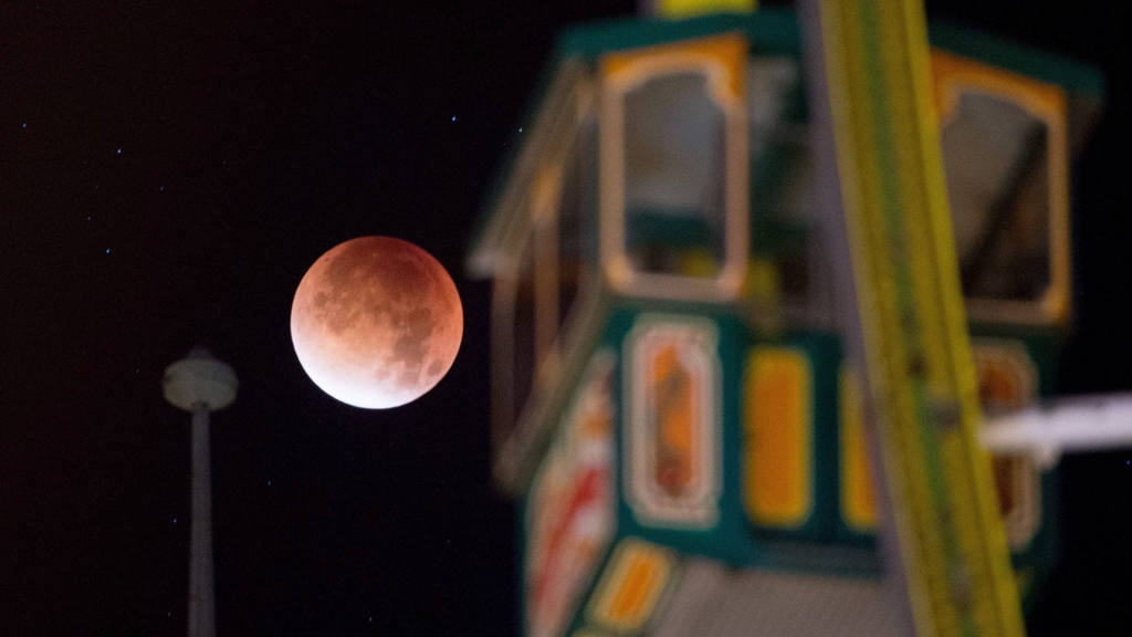 Super moon and lunar eclipse