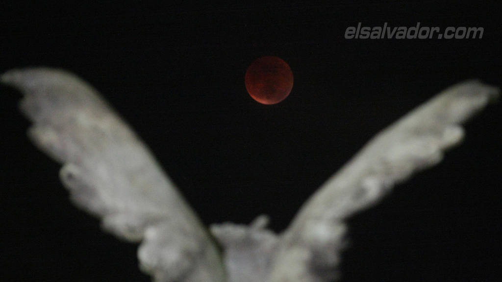 Como se vió la Luna Roja desde la Tierra