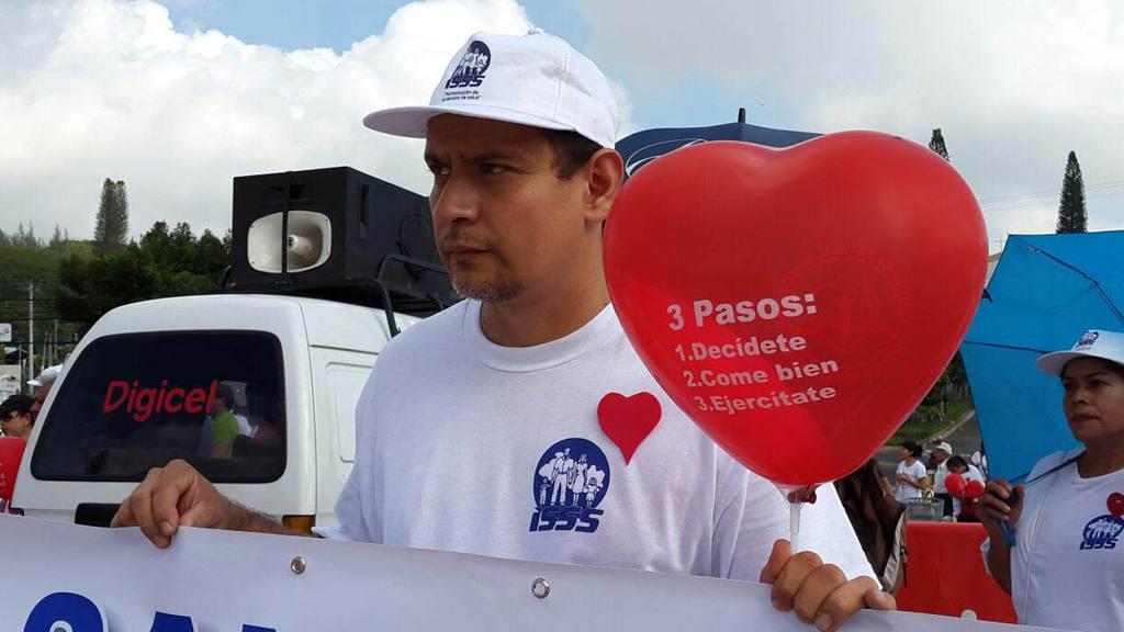 Caminata por el día del Corazón. Ministerio de salud