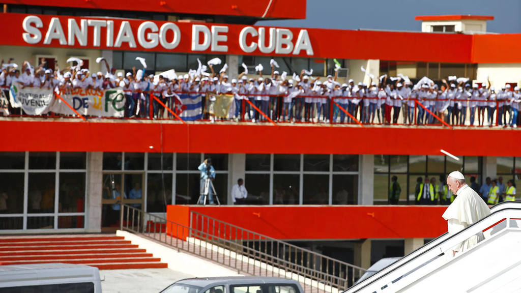 LLEGADA DEL PAPA FRANCISCO A SANTIAGO DE CUBA