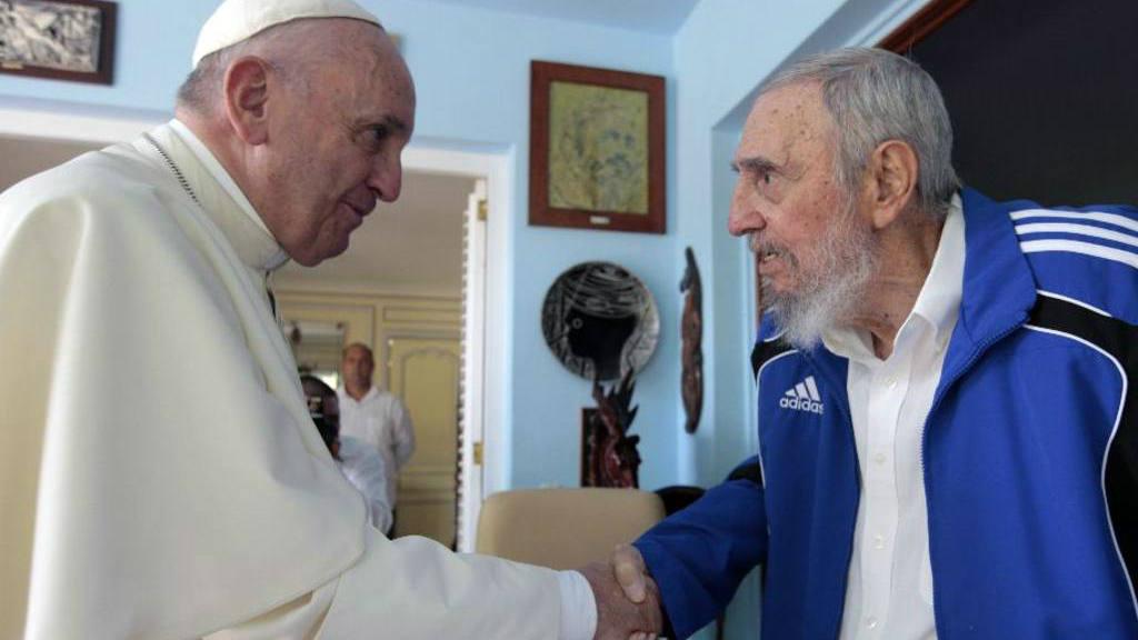 Papa se reúne con Fidel Castro