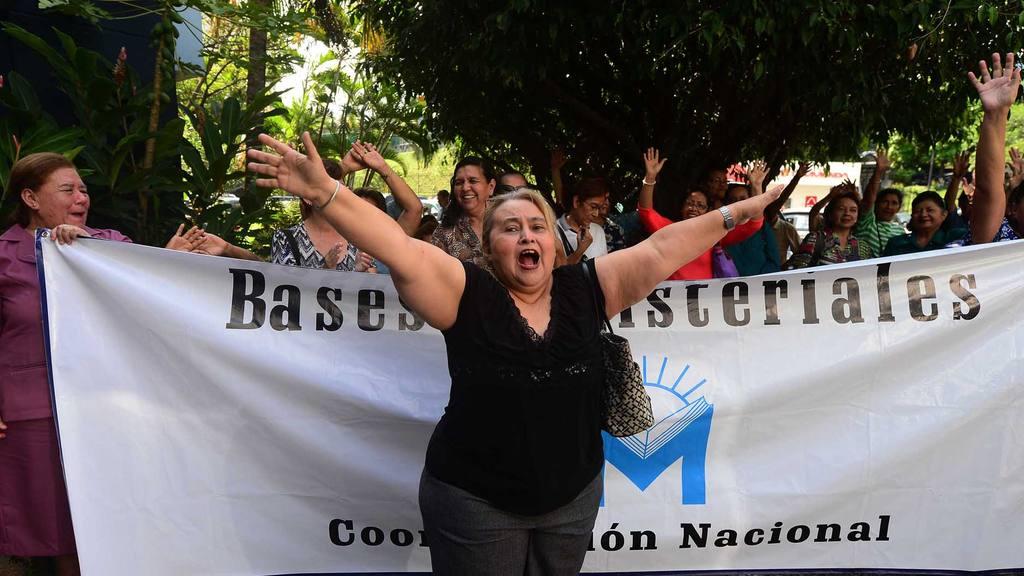 Protesta de maestros