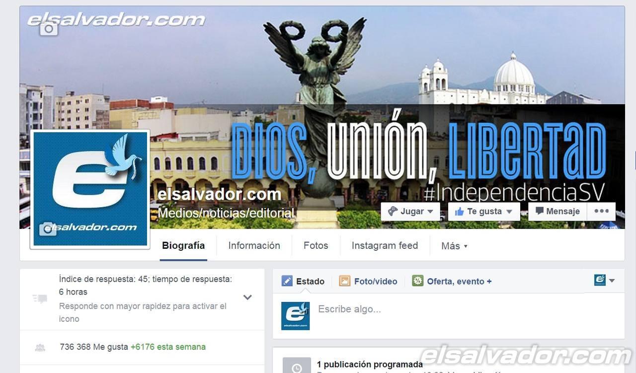 elsalvador.com en Facebook