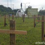 Protesta por los 895 asesinados de agosto