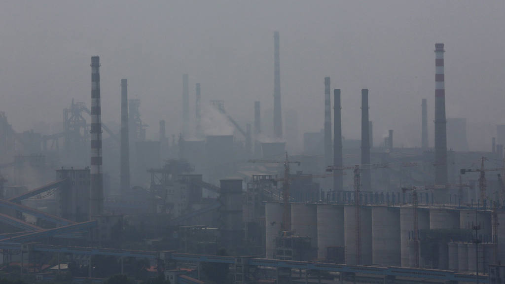 File photo of a steel factory seen in smog in Anshan
