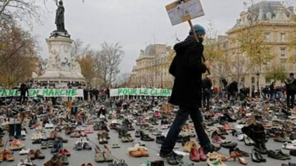 Protestas por Cambio Climático en París