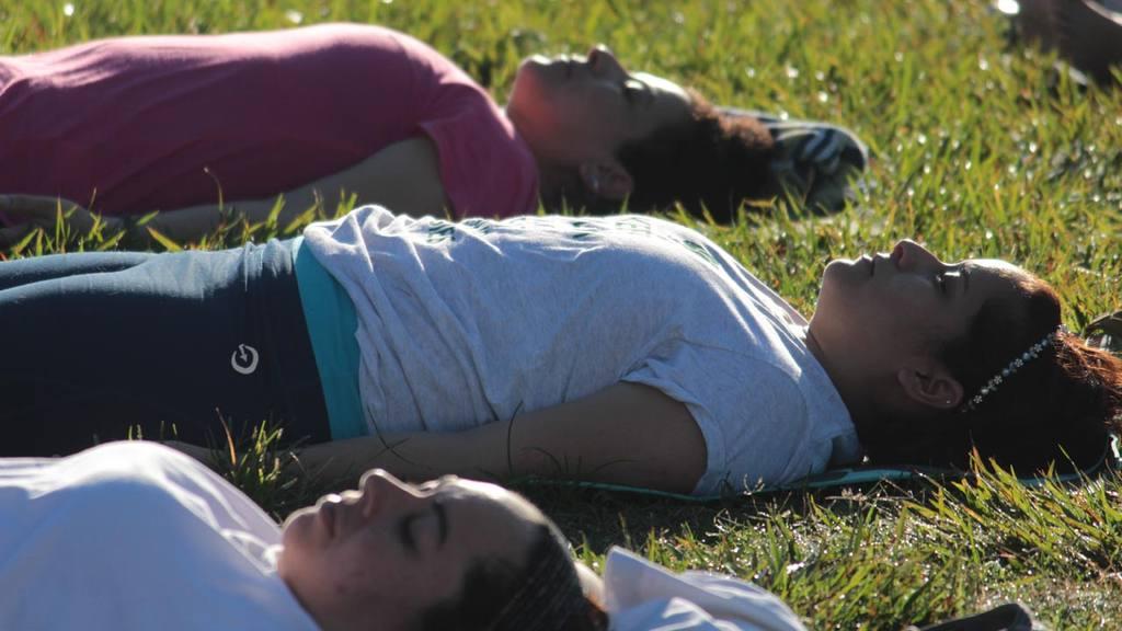 Yoga gratis en el Parque Bicentenario