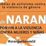 El mundo exigirá el fin de la violencia contra las mujeres vestido de naranja