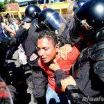 Protestas en Santa Tecla