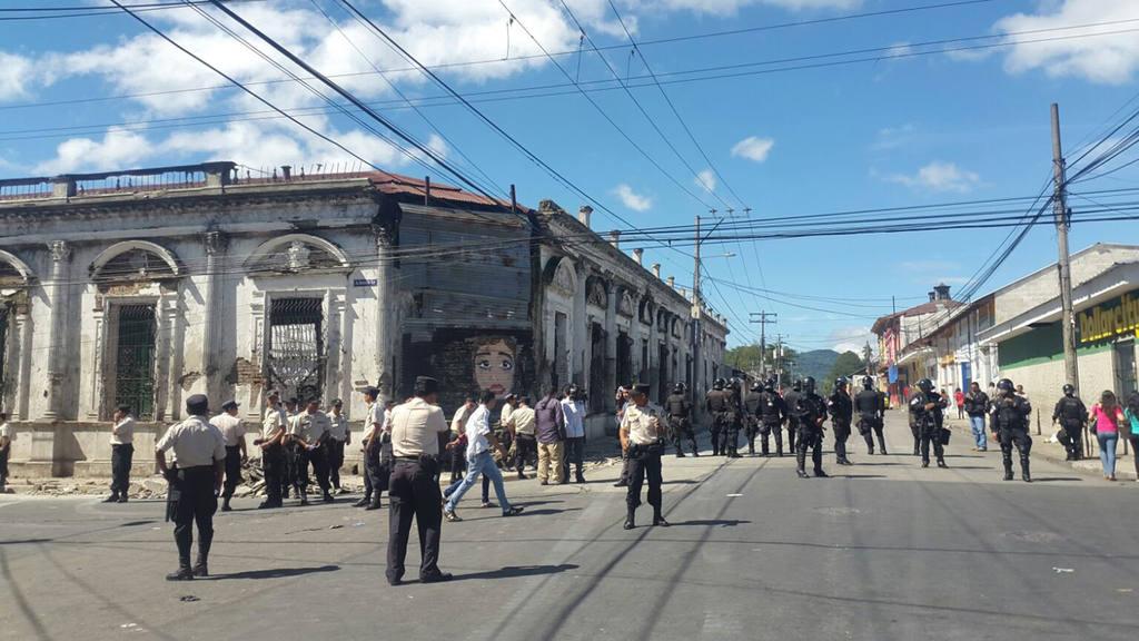 Protestas de vendedores en Santa Tecla