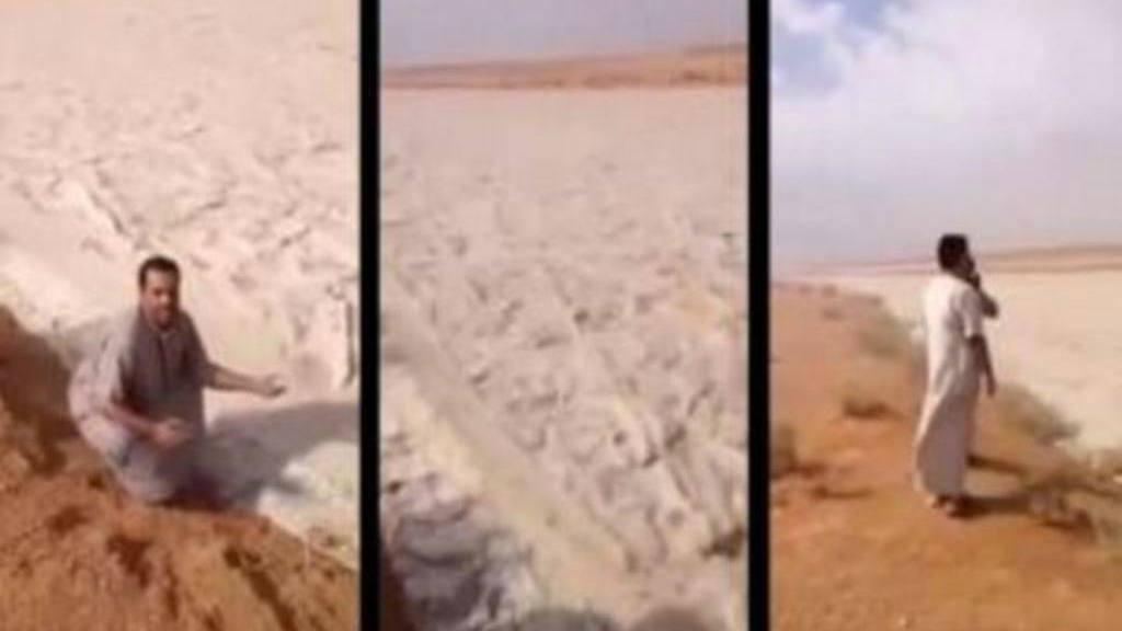 Impresionante río de arena en el desierto de Rub al-Jali