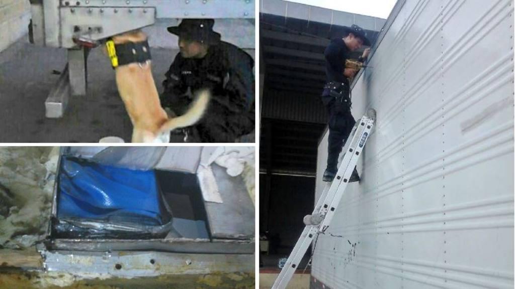 Decomisan furgón con cocaía en frontera El Amatillo