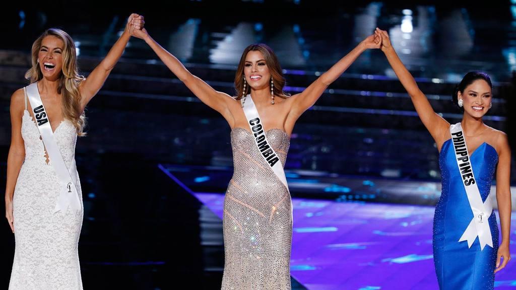 From left, Miss USA Olivia Jordan