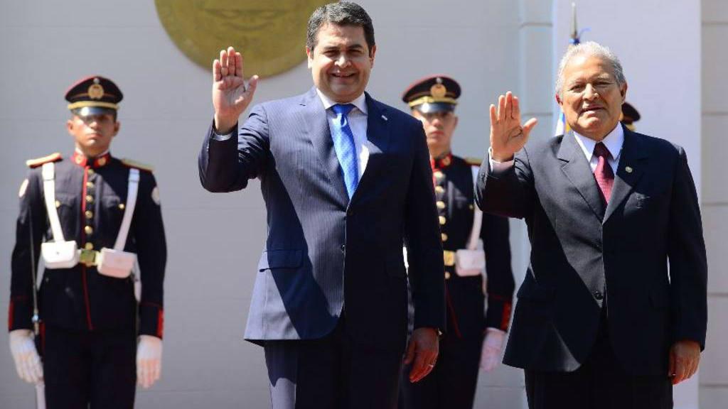 Presidentes de Honduras y El Salvador