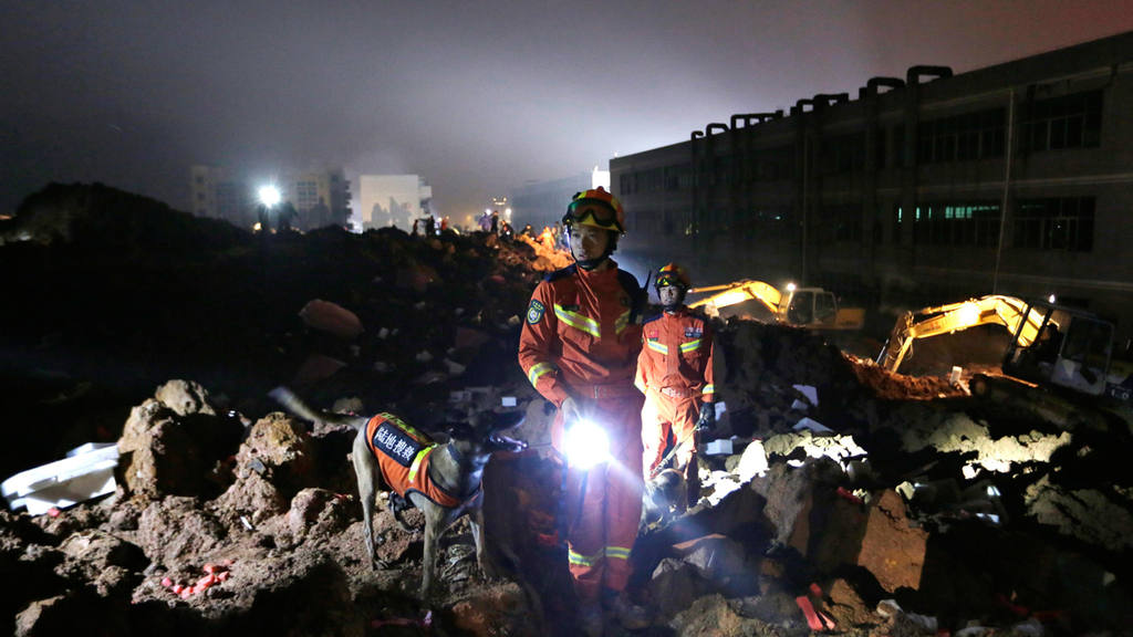 Rescuers search for 41 missing after landslide in southern China