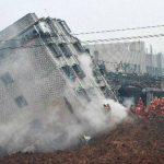 Se derrumban edificios en China