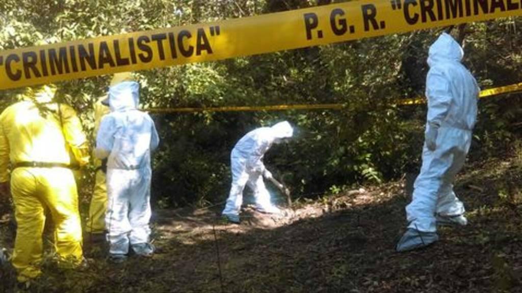 Hallan al menos 19 cuerpos en barranco en México