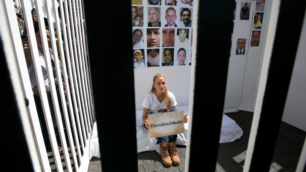 Lilian Tintori, the wife of jailed Venezuelan opposition leader Leopo