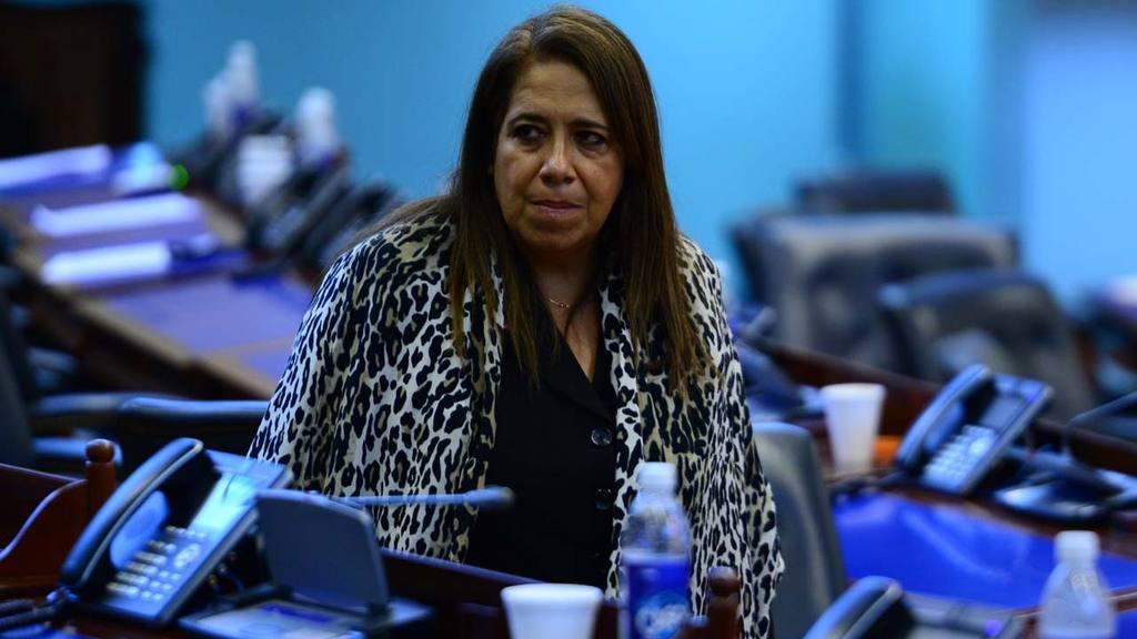 La diputada y dirigente del FMLN, Nidia Díaz.
