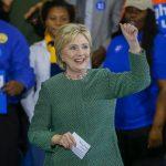 La candidata presidencial, la exsecretaria de Estado estadounidense Hillary Clinton
