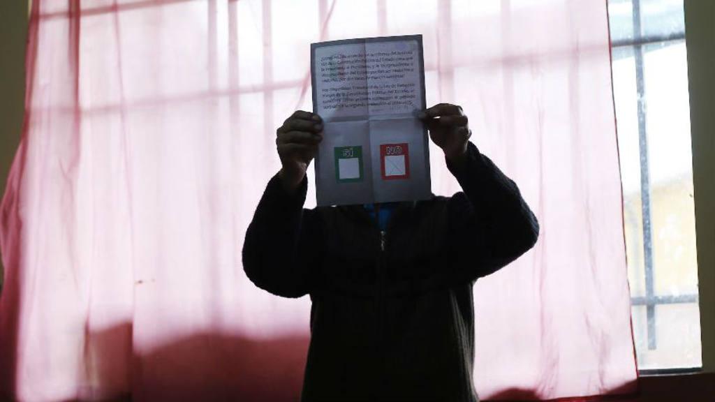 Conteo de votos del referendo en Bolivia