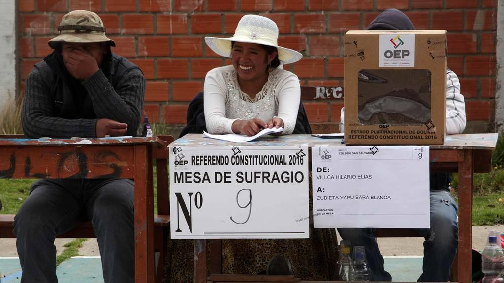 Bolivianos jornada electoral