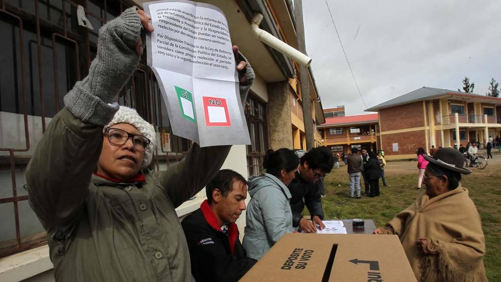 Bolivia jornada electoral