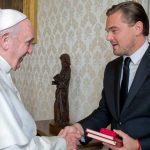 Papa y Leonardo Di Caprio
