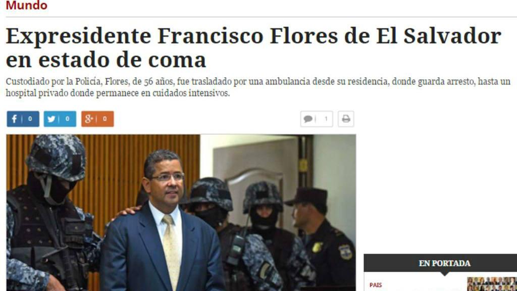 Estado de salud de Francisco Flores en el ojo de los medios internacionales