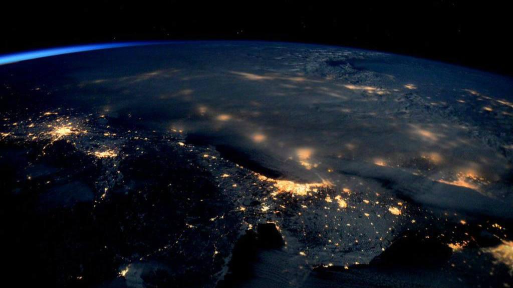 Tormenta de nieve desde el espacio
