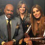 Steve Harvey y Miss Colombia