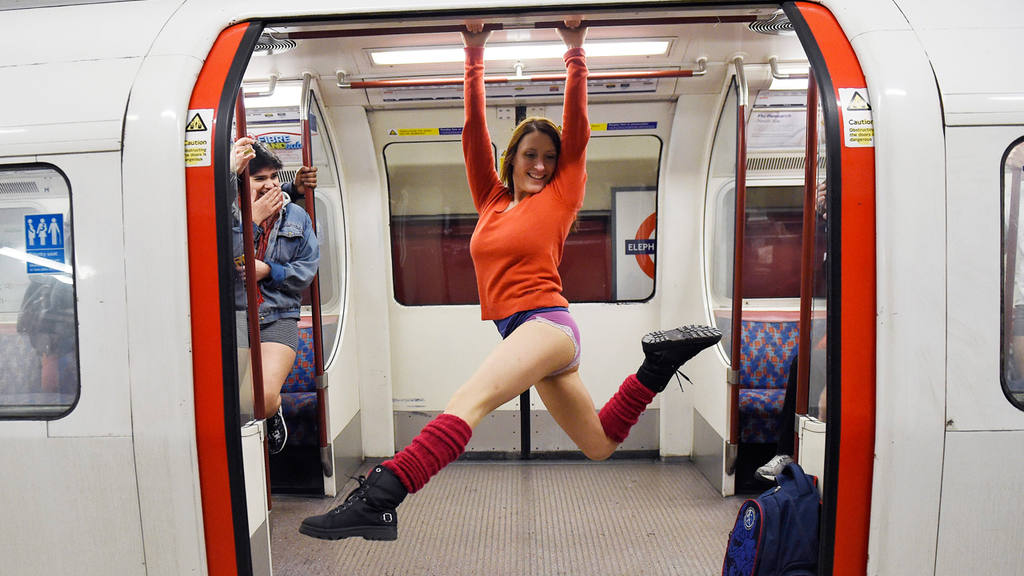No Trousers Day in London