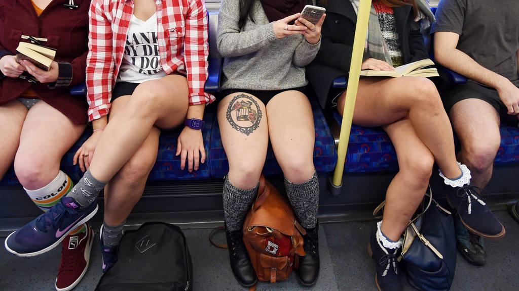 No Trousers on the Tube Ride in London