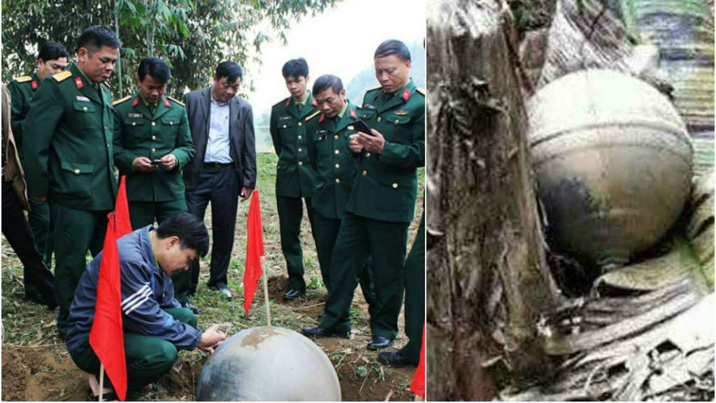 Dos misteriosas esferas metálicas caen del cielo en Vietnam
