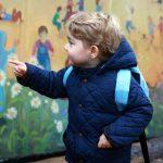 El príncipe Jorge de Inglaterra en su primer día de guardería