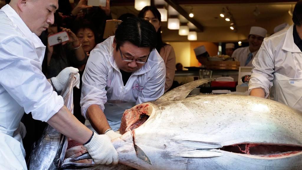 Subasta de atún en Tokio