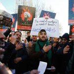 Protesta cerca de embajada saudí