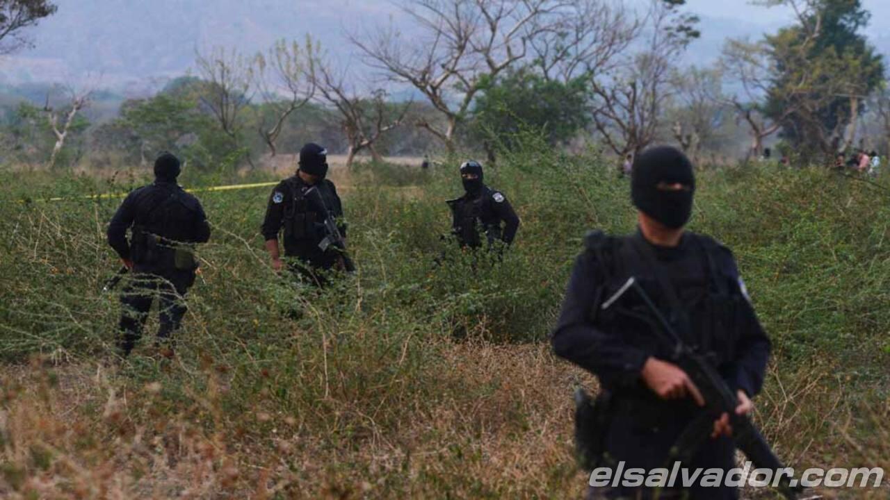 Mueren seis pandilleros tras enfrentamiento en San Vicente