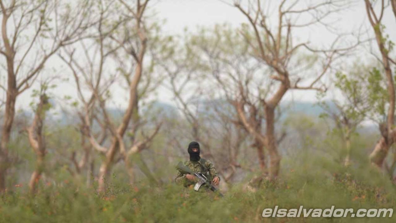 Militares apoyaron en la seguridad del sector para recabar pistas y determinar responsables.San Vicente