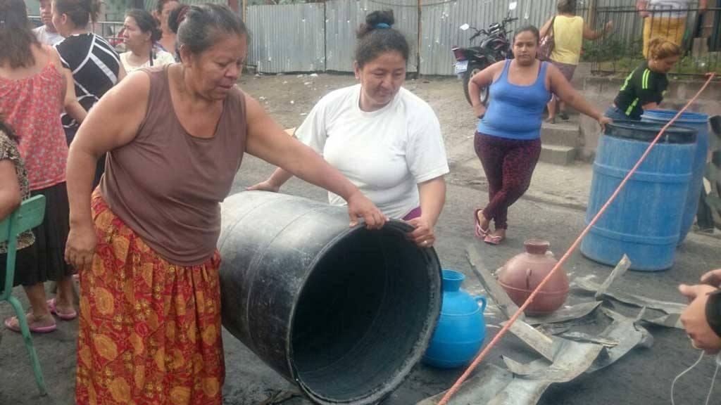 Protesta agua