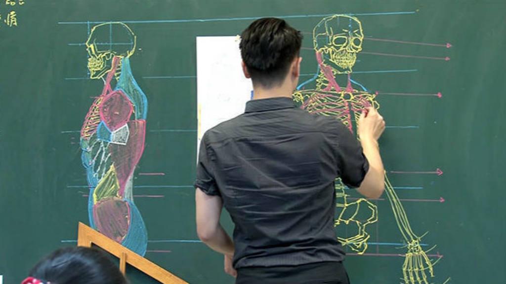 Fotos: Maestro taiwanés asombra por sus dibujos en clase de anatomía ...