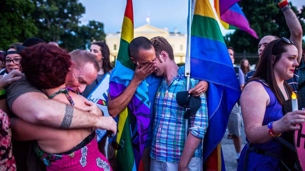 Vigil in honor of Orlando shooting victims outside the White House in Washington, DC