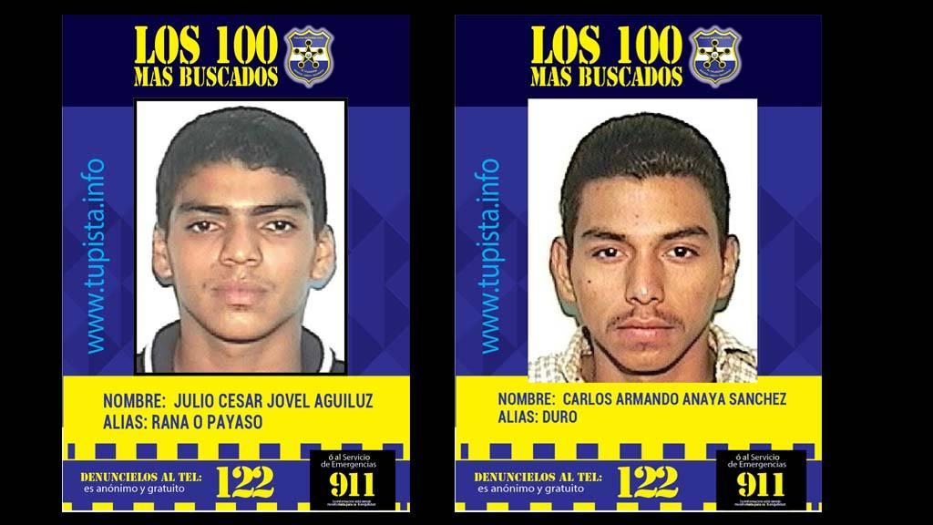 Pandilleros más buscados por la PNC