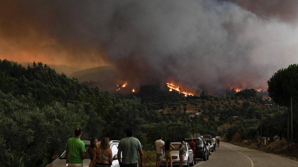 Incendio forestal en Abrantes