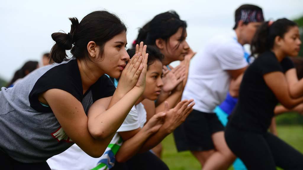 yoga en el Parque Bicentenario