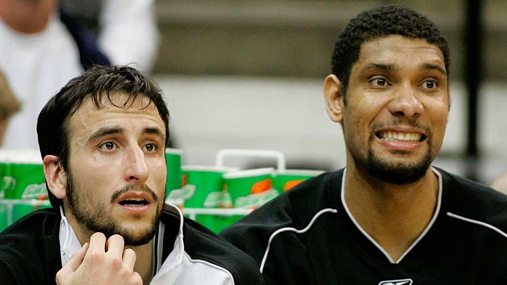 San Antonio Spurs  Manu Ginobili, de Argentina, y Tim Duncan.