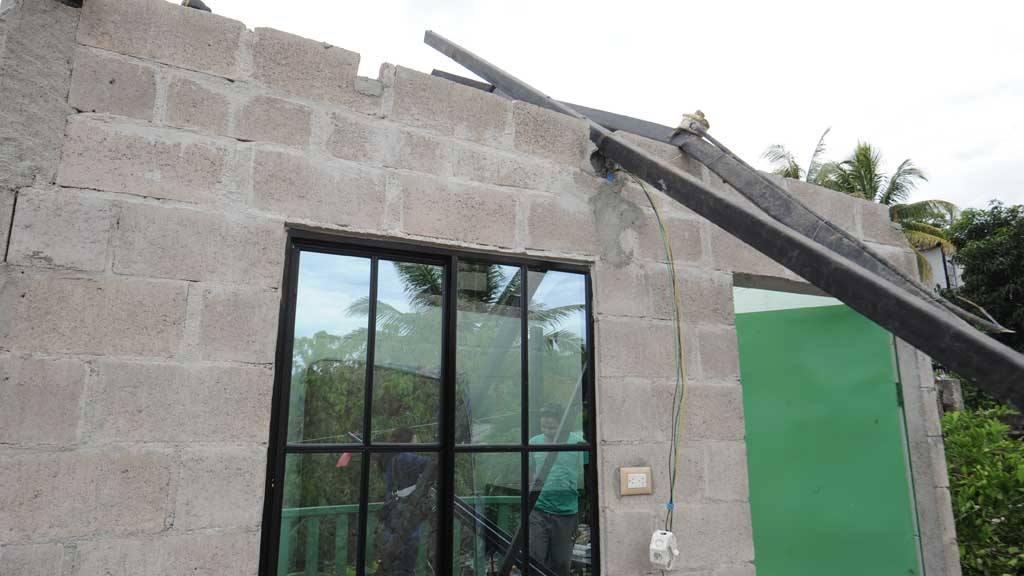 Casas dañadas  en Villas de Zaragoza