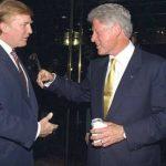 Publican fotos inéditas de Bill Clinton y Donald Trump